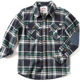 Appaman Flannel Jungle Navy Plaid Shirt