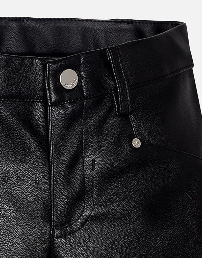 Mayoral USA Black Synthetic Leather Jeggings
