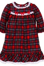 Little Me Red Plaid Gown