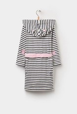 Little Joule White with Navy Stripe Robe