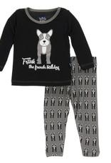 Kickee Pants French Bulldog Pajamas
