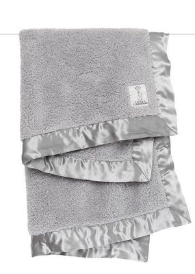 Little Giraffe Silver Chenille Blanket
