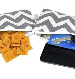 Itzy Ritzy Grey Chevron Mini Snack Bag