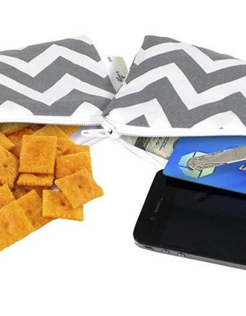 Itzy Ritzy Grey Chevron Mini Snack Bag