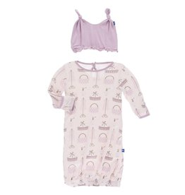 Kickee Pants Shopping Paris Layette Gown and Hat Set