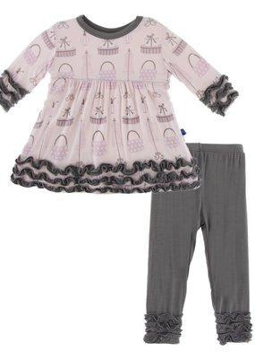 Kickee Pants Shopping Paris Long Sleeve Babydoll Dress Set