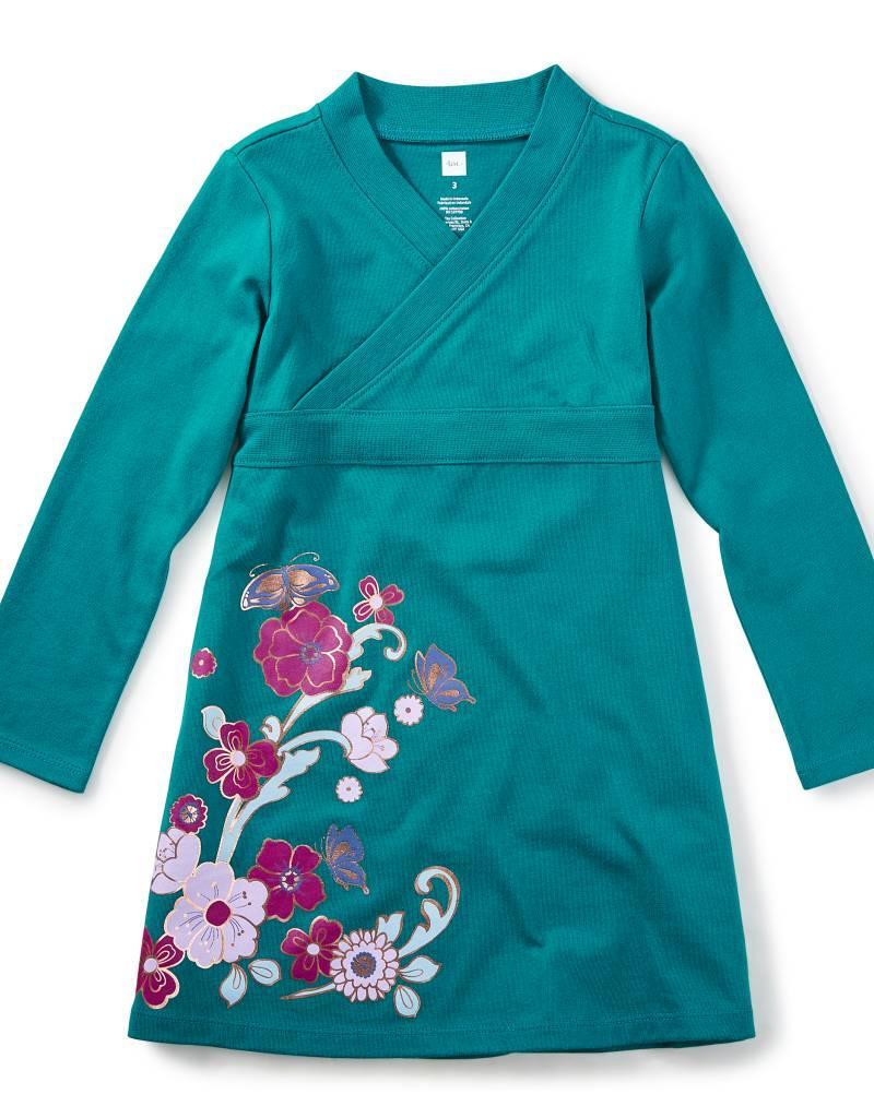 Tea Collection Ingram Street Wrap Neck Dress
