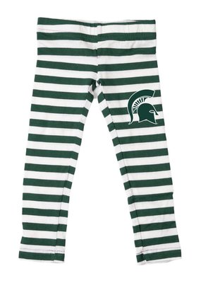 Wes and Willy MSU Girl Stripe Leggings