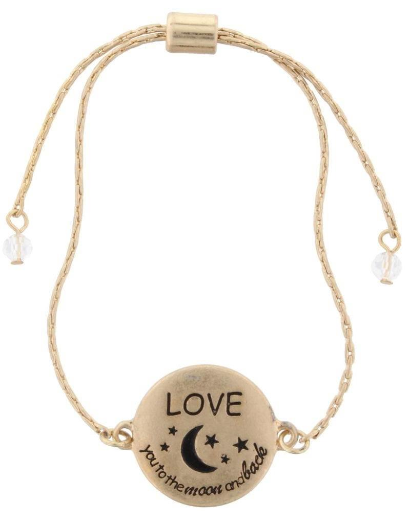 Jane Marie Love You to the Moon Bracelet
