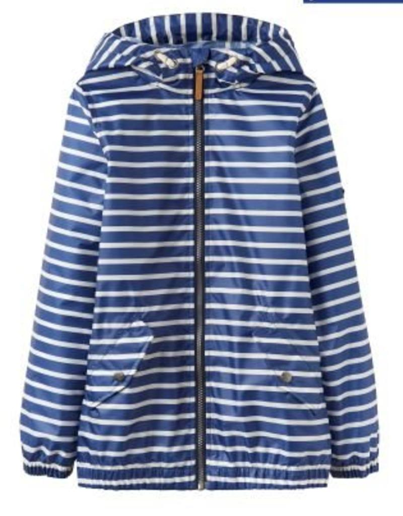 Little Joule Blue Stripe Waterproof Jacket