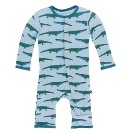 Kickee Pants Pond Crocodile Coverall