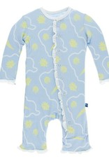 Kickee Pants Pond Shells Ruffle Coverall