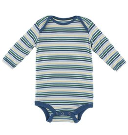 Kickee Pants Boy Perth Stripe Print LS One Piece