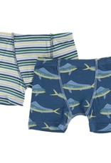 Kickee Pants Perth Stripe Boxer Brief Set