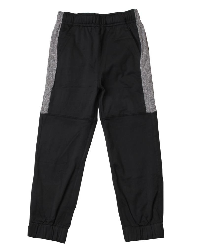 Wes and Willy Black Striped Perf. Jogger