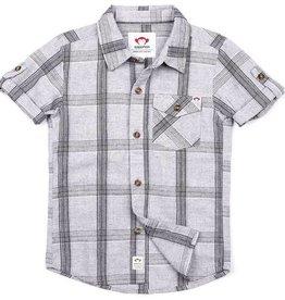 Appaman Benson Grey Linen Plaid Shirt