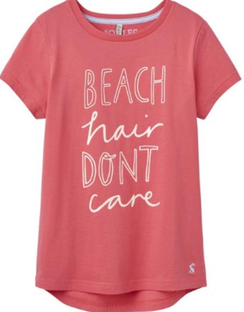 Little Joule Beach Hair Don't Care Tee