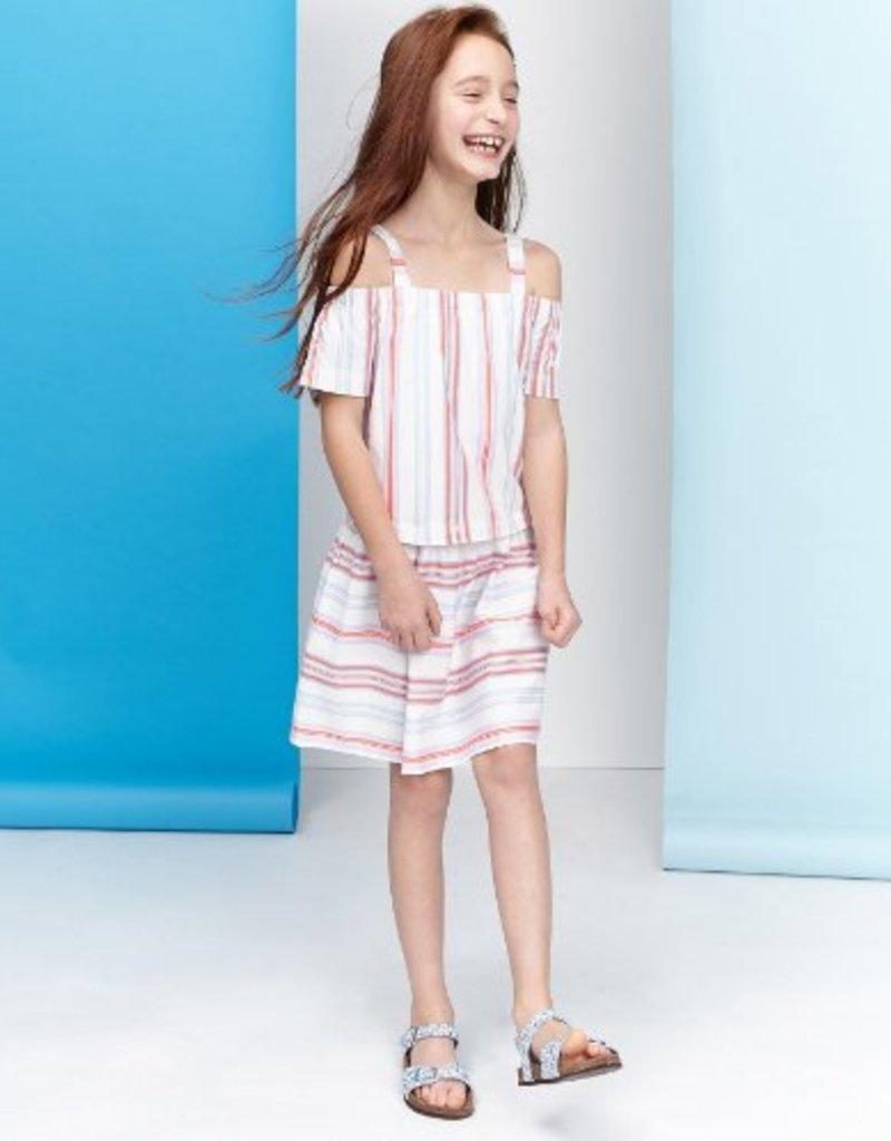 Little Joule Cream Stripe Bardau Dress