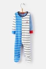 Little Joule Multi Stripe Blue Footie