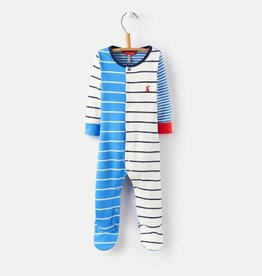 Little Joule Multi Stripe Blue Footie