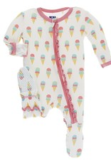 Kickee Pants Ice Cream Ruffle Footie
