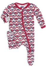 Kickee Pants Flag Red & Blue Footie