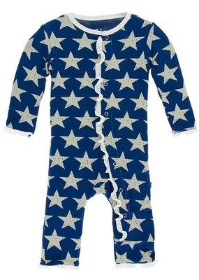 Kickee Pants Vintage Stars Ruffle Coverall
