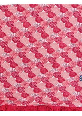 Kickee Pants Roses Print Ruffle Toddler Blanket