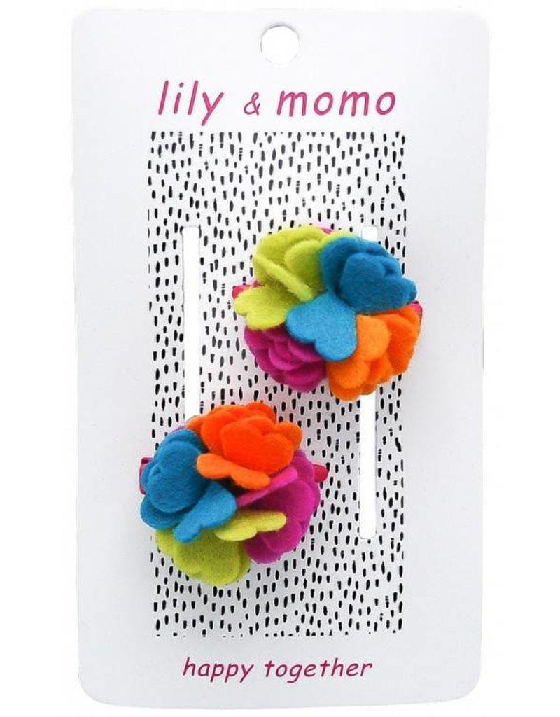 Lily and Momo alyssa flower rainbow clip