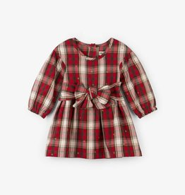 Hatley Red Hibiscus Holiday Plaid Party Dress