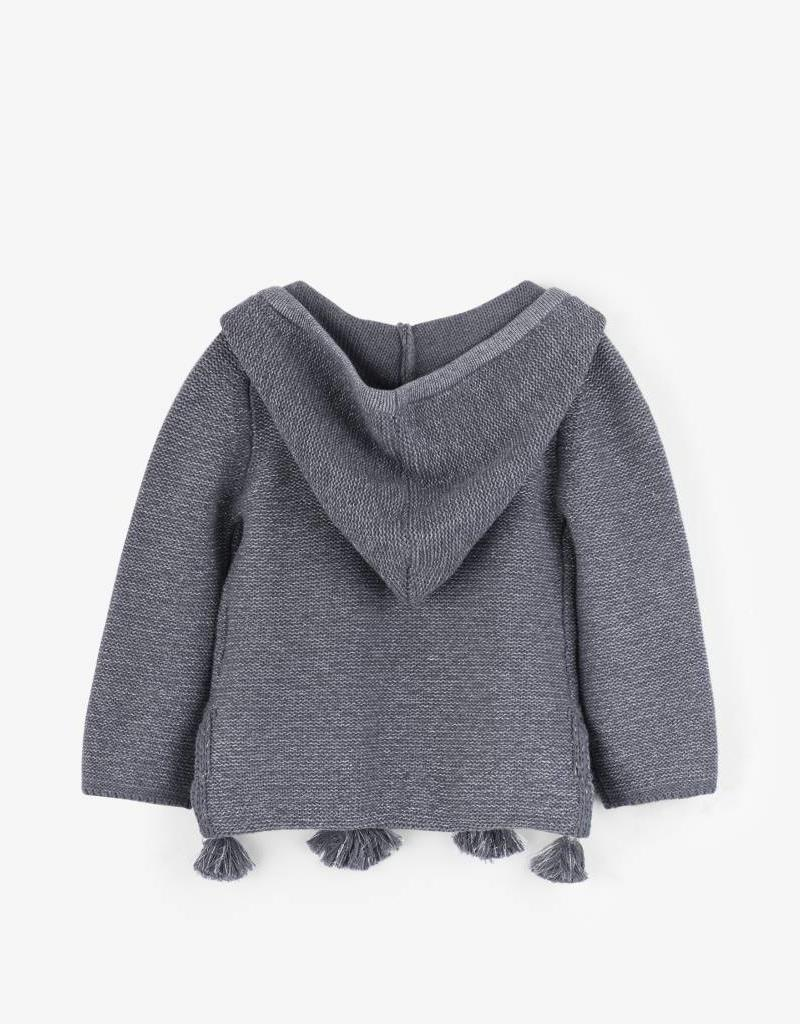 Hatley Charcoal Grey Shimmer Slouchy Cardigan