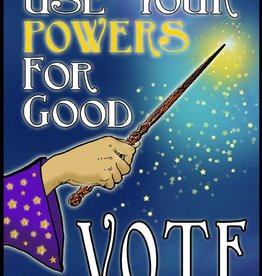 Use Your Powers for Good, VOTE - 10 Count, Vinyl Sticker