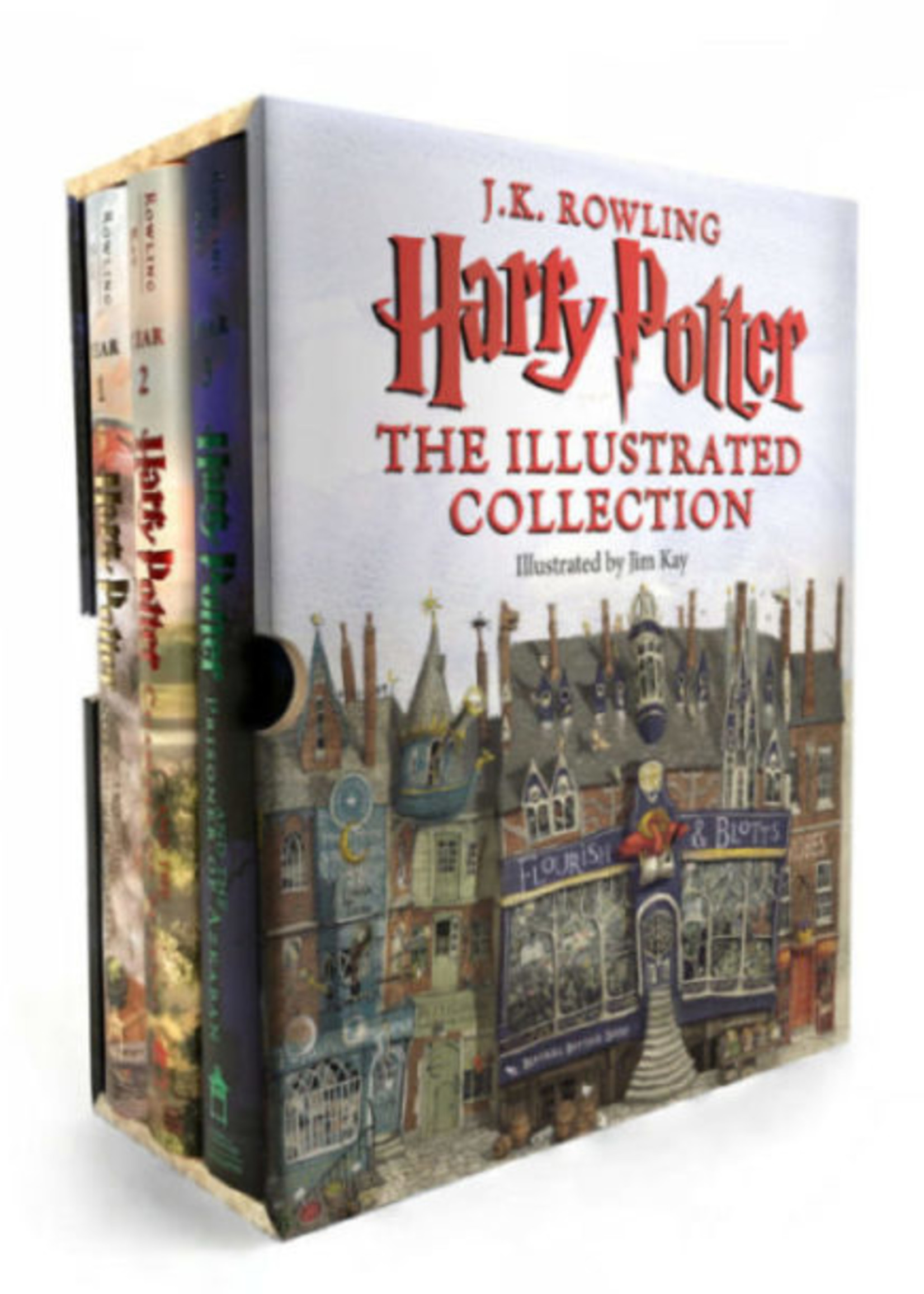 Harry Potter, The Illustrated Edition Collection, HC Book Set/3 - Box