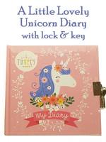A Little Lovely My Diary: Unicorn, Locking