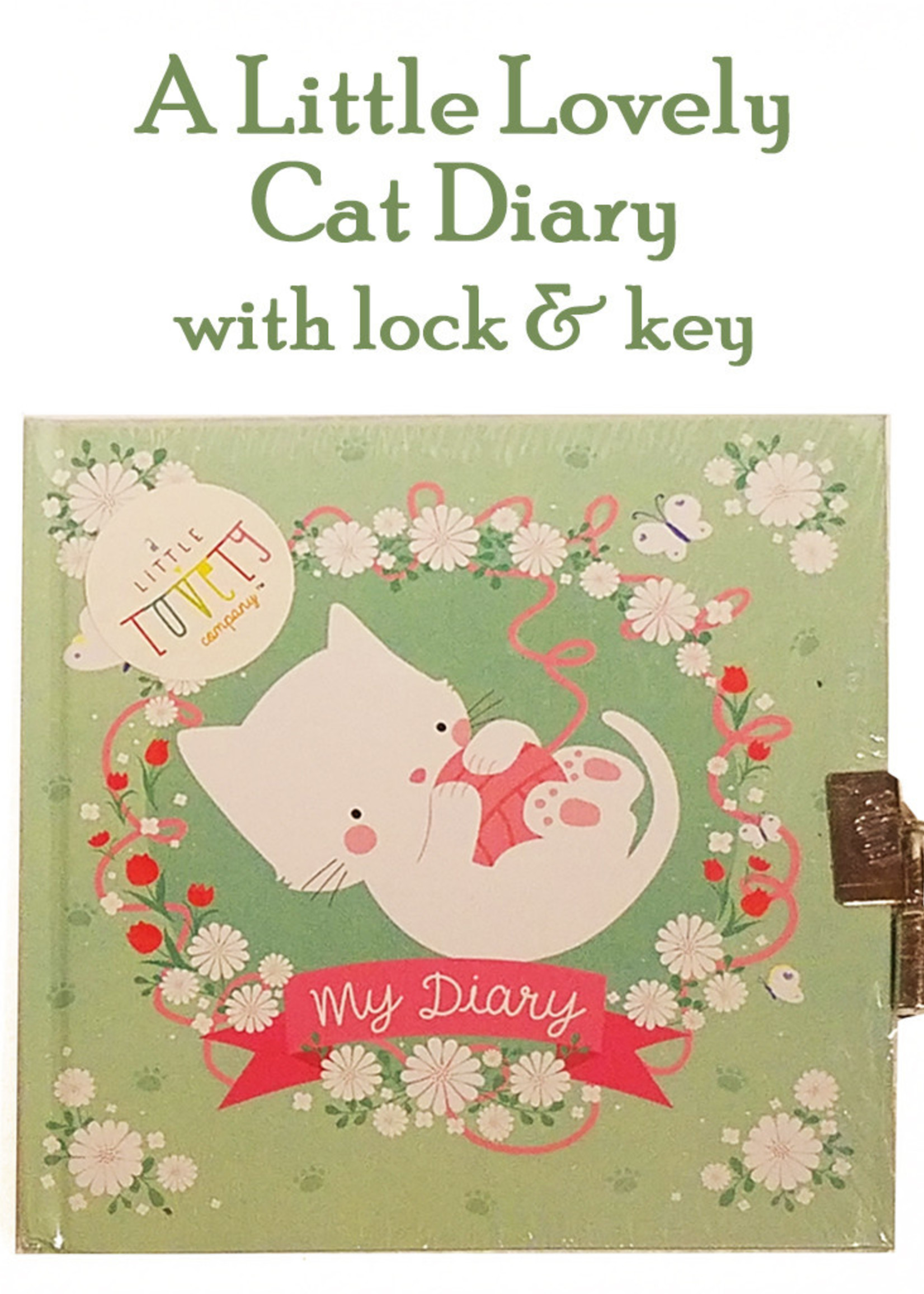 A Little Lovely My Diary: Cat, Locking
