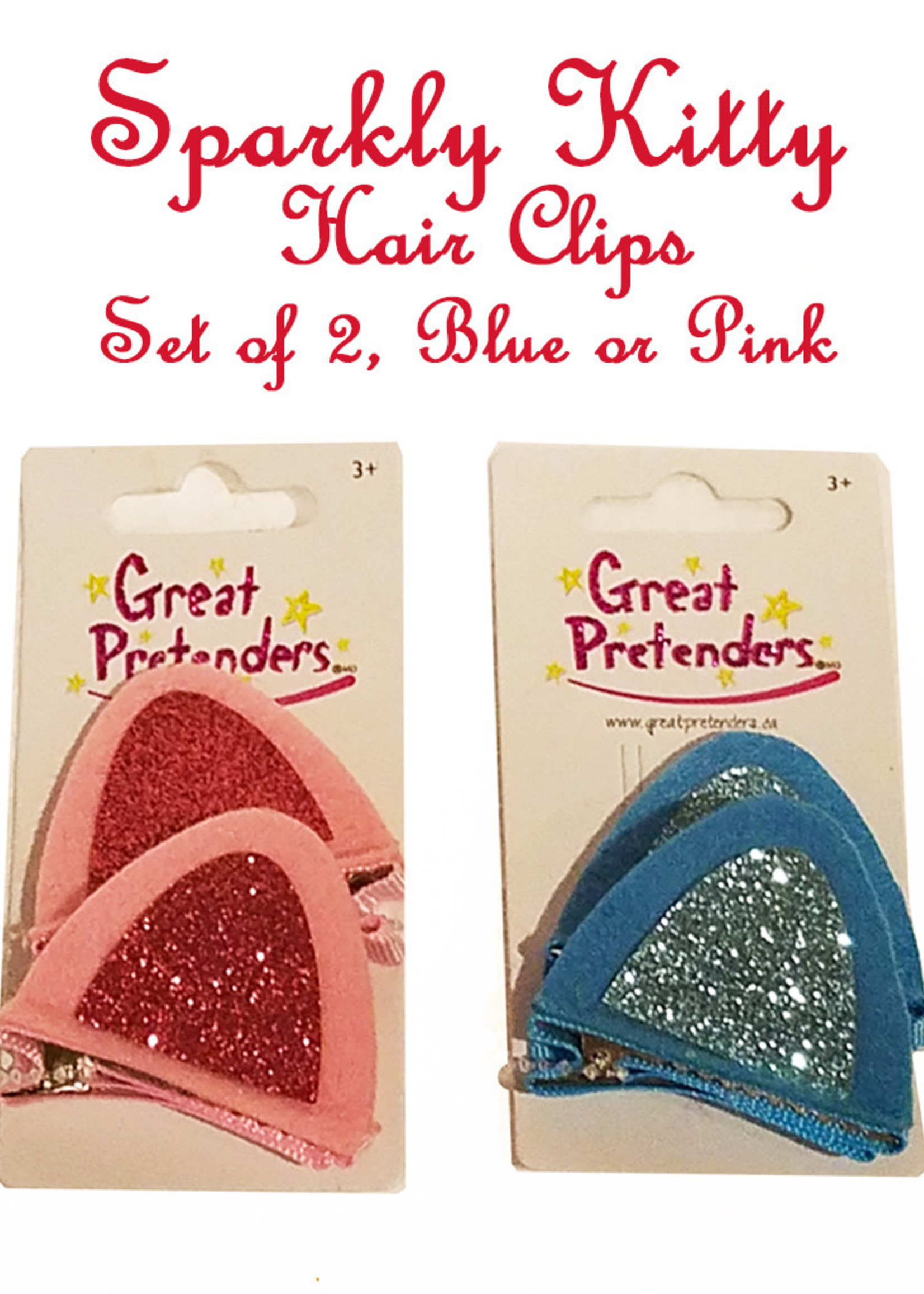 Great Pretenders Sparkly Kitty Ear Hair Clips