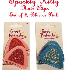 Great Pretenders Sparkly Kitty Clips