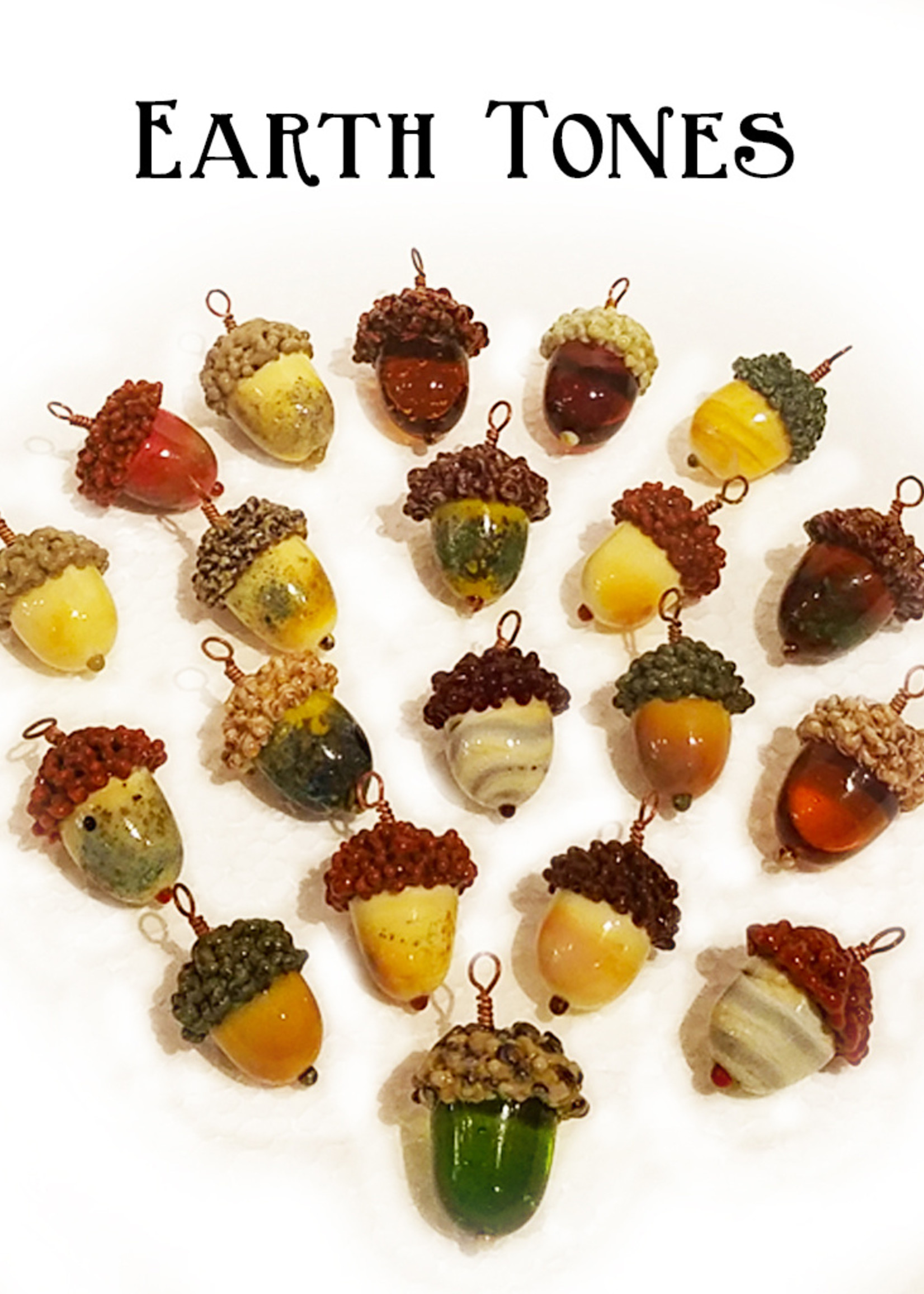 ModernFaery Acorn Necklace Charm With Bag & Chain