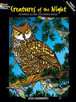 Creatures of the Night Stained Glass Coloring Book - PB