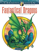 Creative Haven Fantastical Dragons Coloring Book - PB