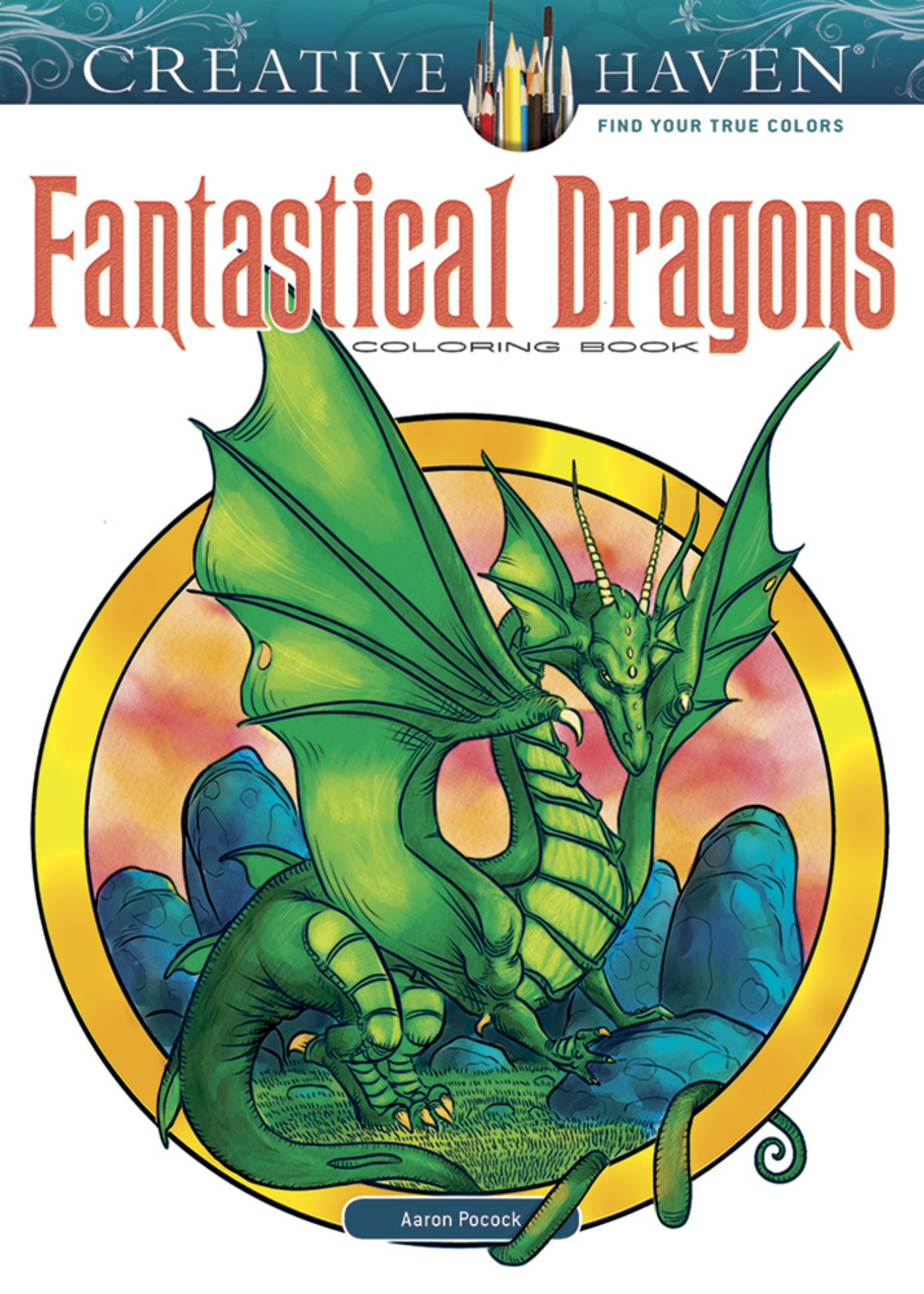 Creative Haven Fantastical Dragons Coloring Book - Paperback