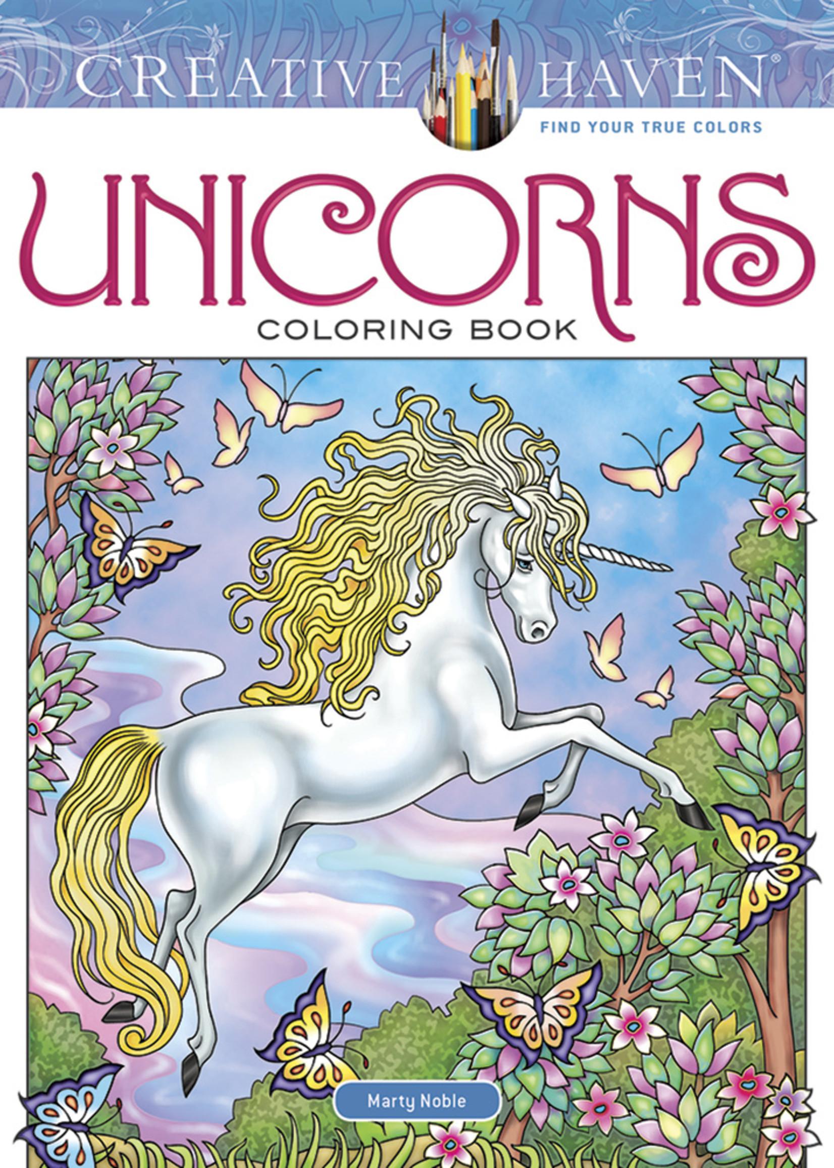 Creative Haven Unicorns Coloring Book - Paperback