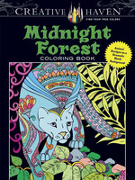 Creative Haven Midnight Forest Coloring Book - PB