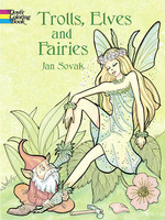 Trolls, Elves and Fairies Coloring Book - PB