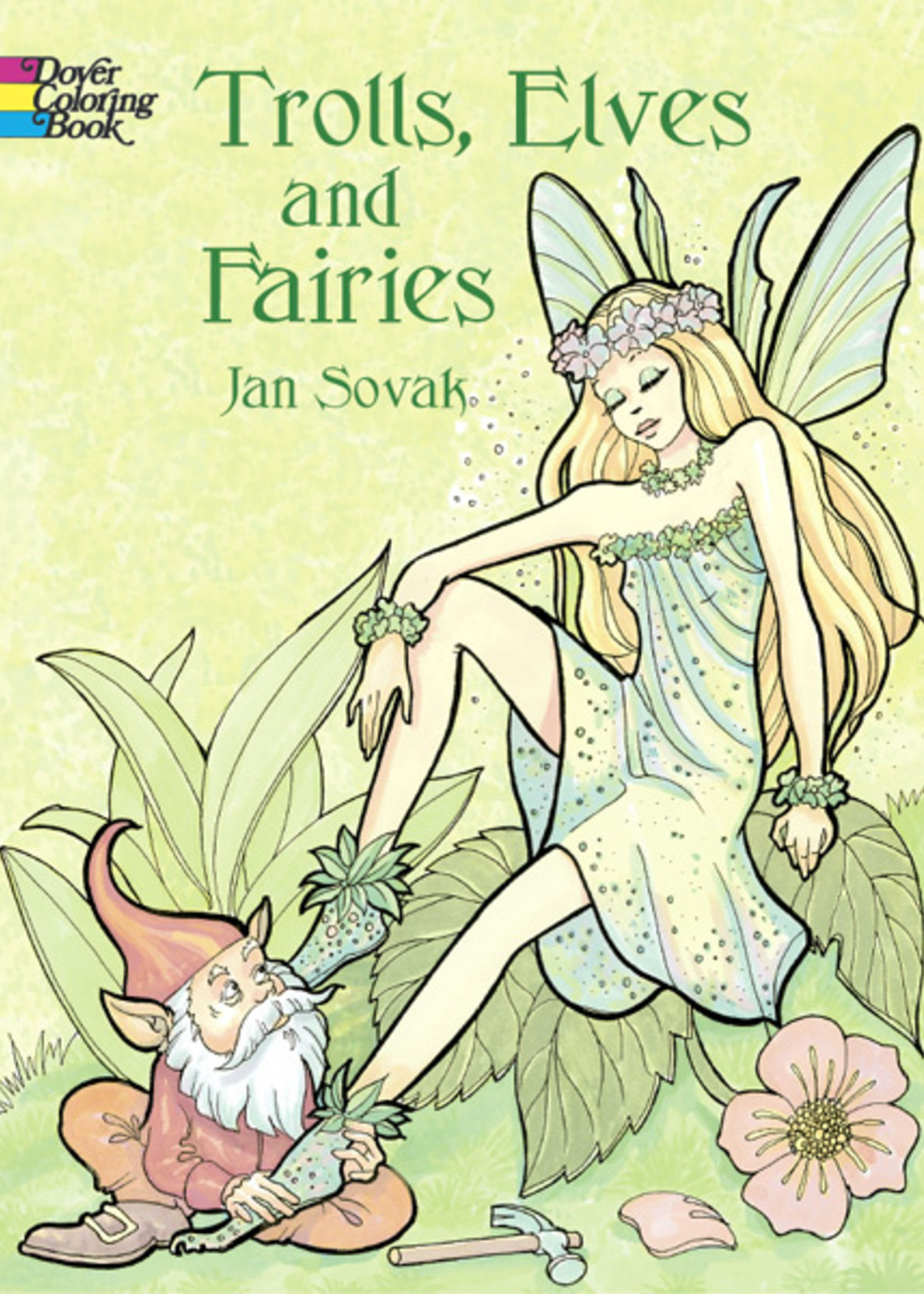 Trolls, Elves and Fairies Coloring Book - Paperback