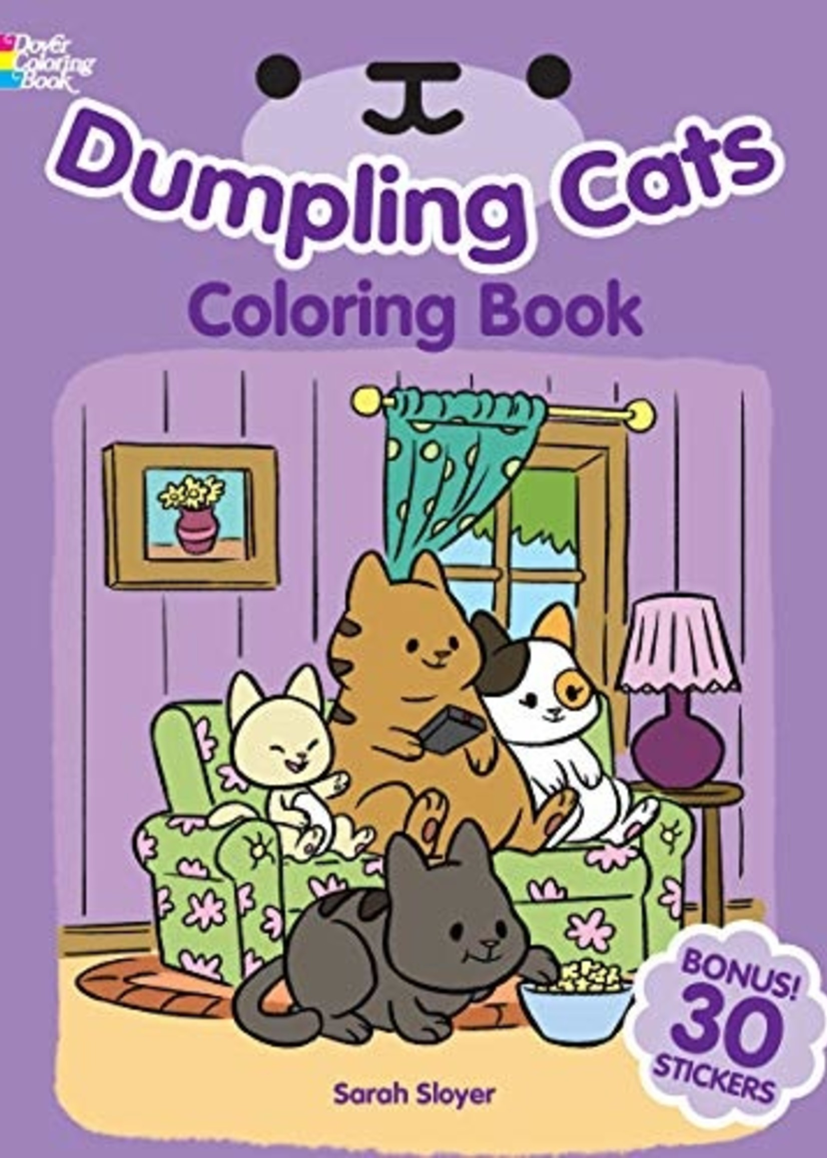 Dumpling Cats Coloring Book with Stickers - PB