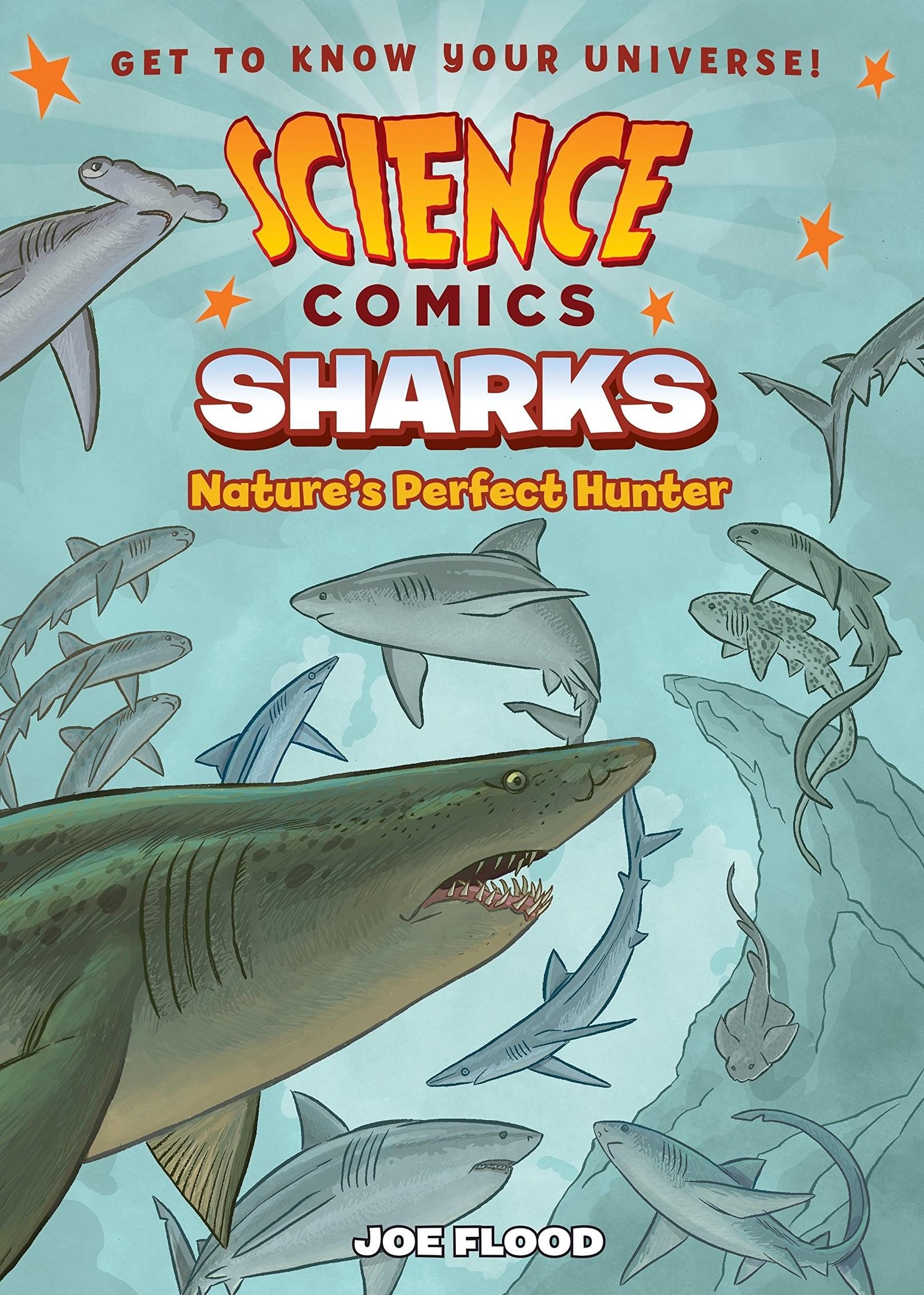 Science Comics: Sharks, Nature's Perfect Hunter Graphic Novel - Paperback