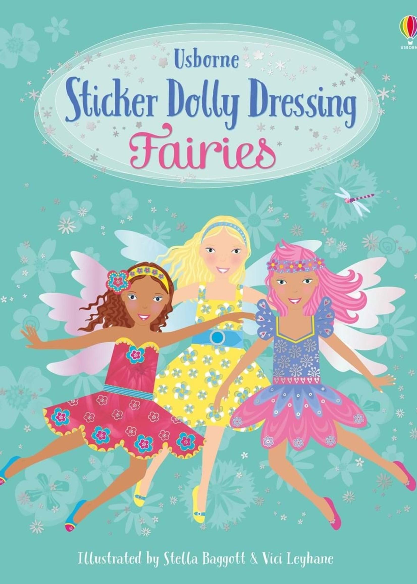 Usborne Little Sticker Dolly Dressing Fairies - Paperback