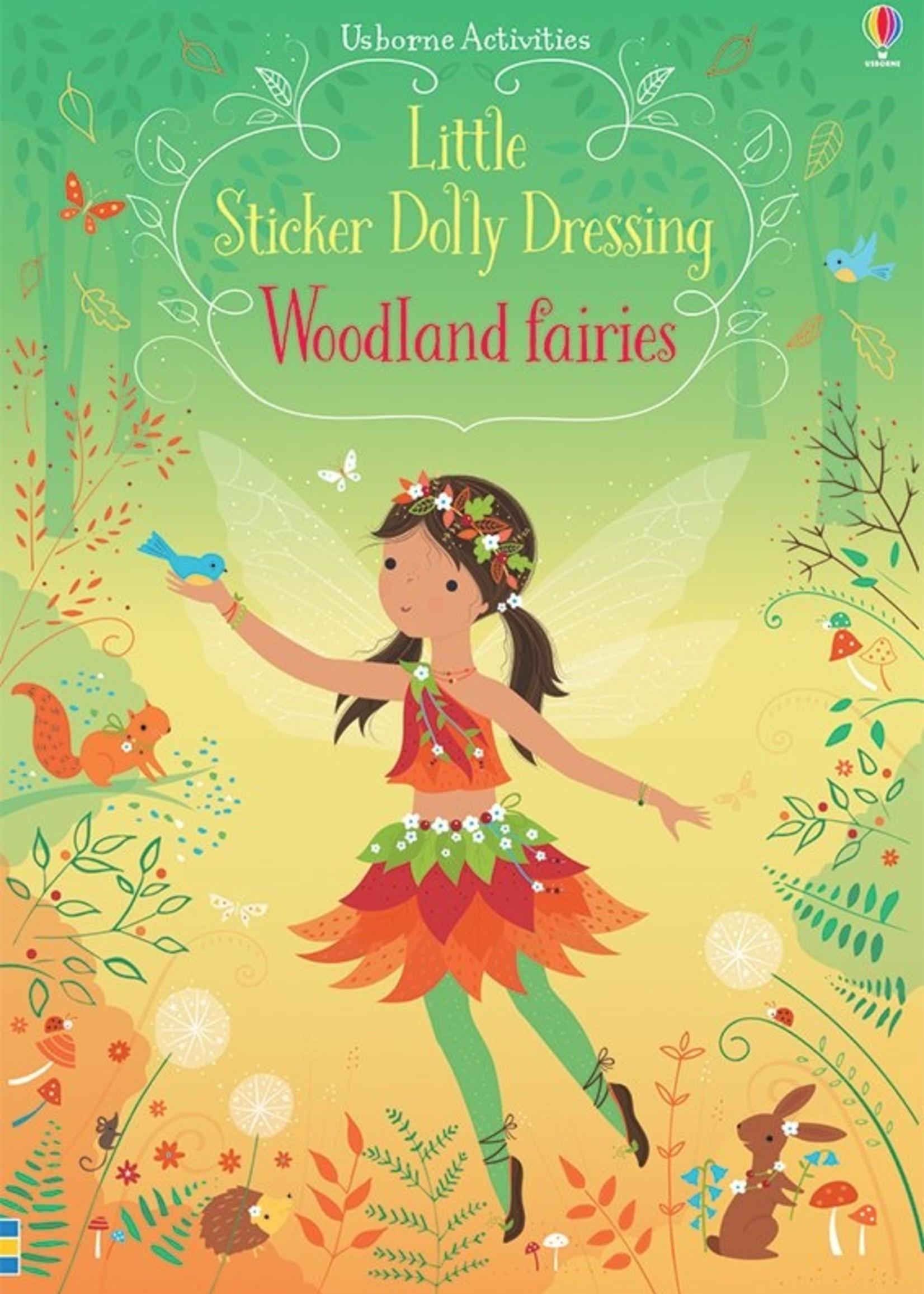 Usborne Little Sticker Dolly Dressing Woodland Fairies - Paperback