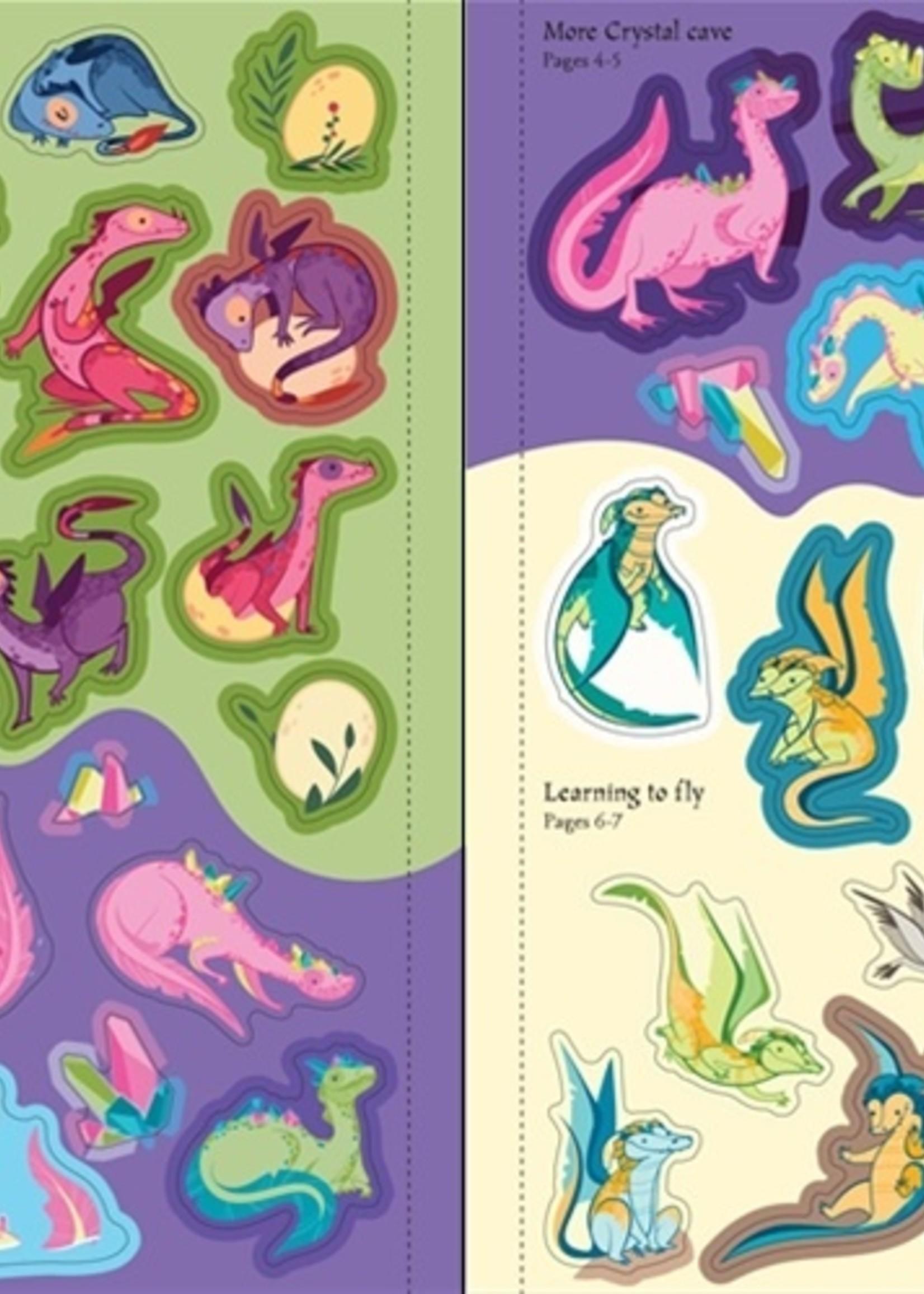 Usborne Dragons Sticker Book - Paperback